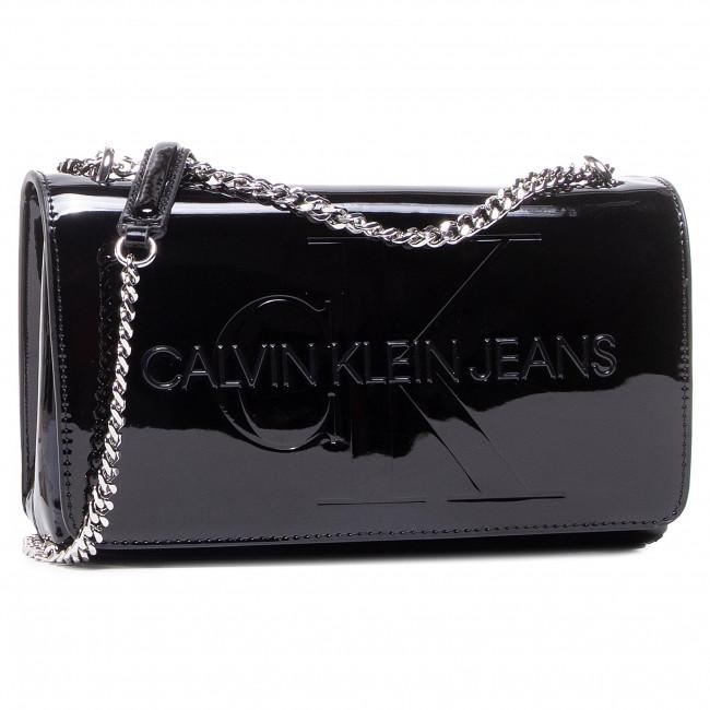 Borsetta CALVIN KLEIN JEANS - Convertible Ew Flap Patent K60K607622 Black BDS