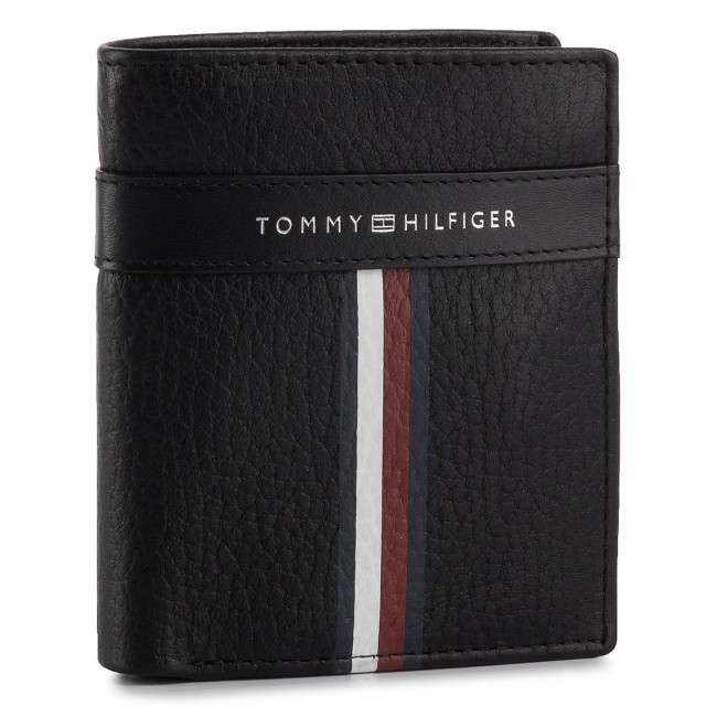 Portafoglio piccolo da uomo TOMMY HILFIGER Corporate Leather Ns Trifold AM0AM04812 002
