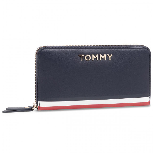 Portafoglio grande da donna TOMMY HILFIGER Th Corporate Lrg Za Wallet AW0AW07736 CJM