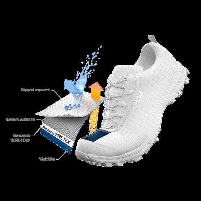 Scarpe SALOMON - Alphacross Gtx W GORE-TEX 409612 20 V0 Bellini/Vanilla Ice/White - Trail running - Running - Scarpe sportive - Donna