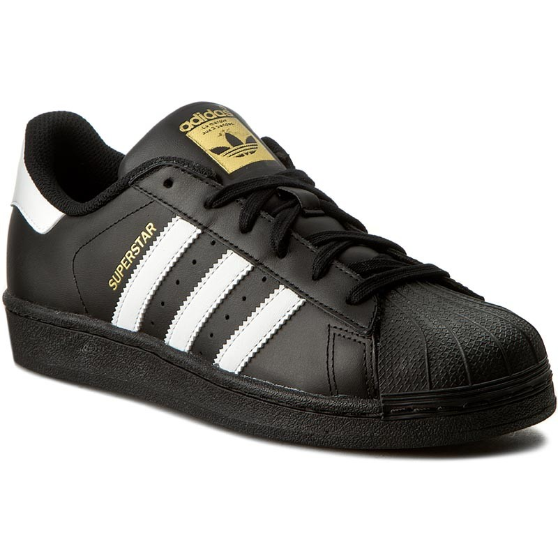 ADIDAS Superstar Foundation tg. 38 Scarpe Classic Sneaker Pelle Nero b27140