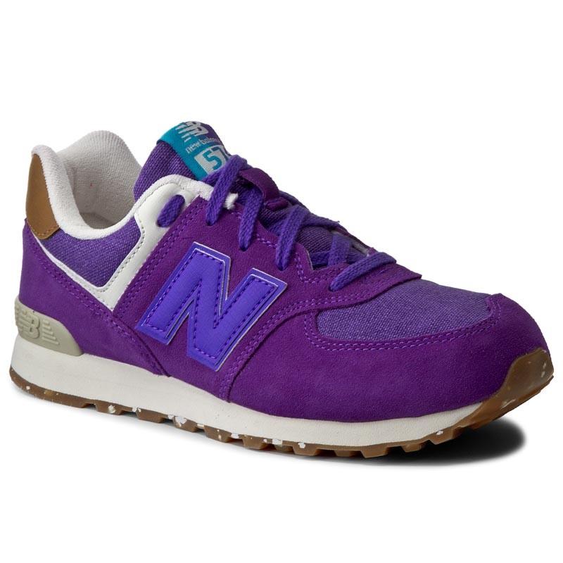 New Balance KL574EUG KL574EUG viola scarpe basse