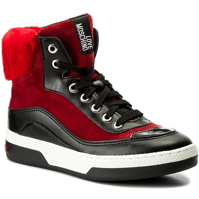 Sneakers LOVE MOSCHINO escarpe neri Pelle ZH6YKS