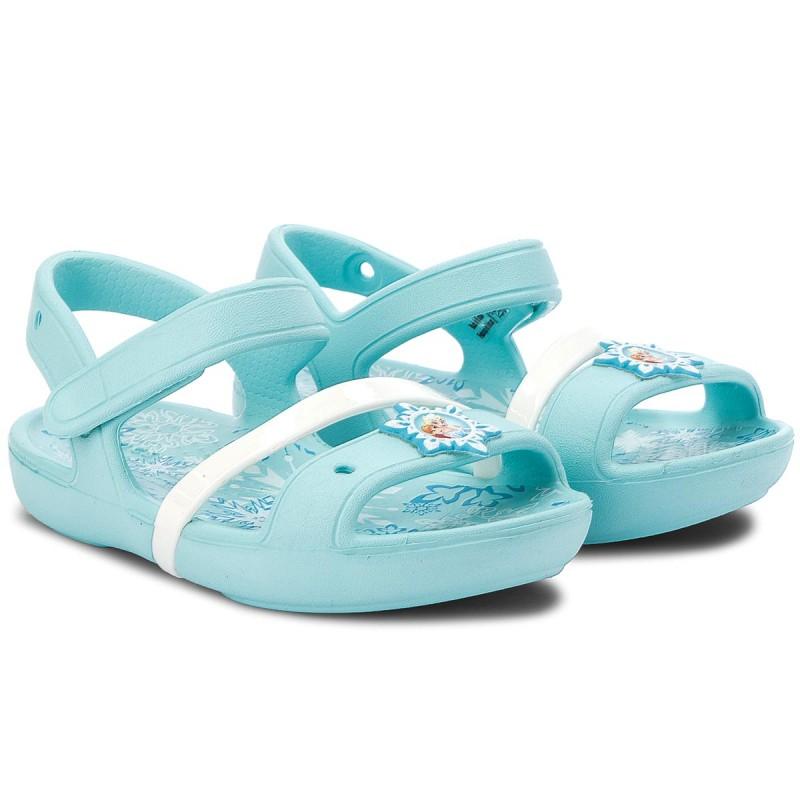 Sandali CROCS - Lina Frozen Sandal K 205016 Ice blu Totwdamk