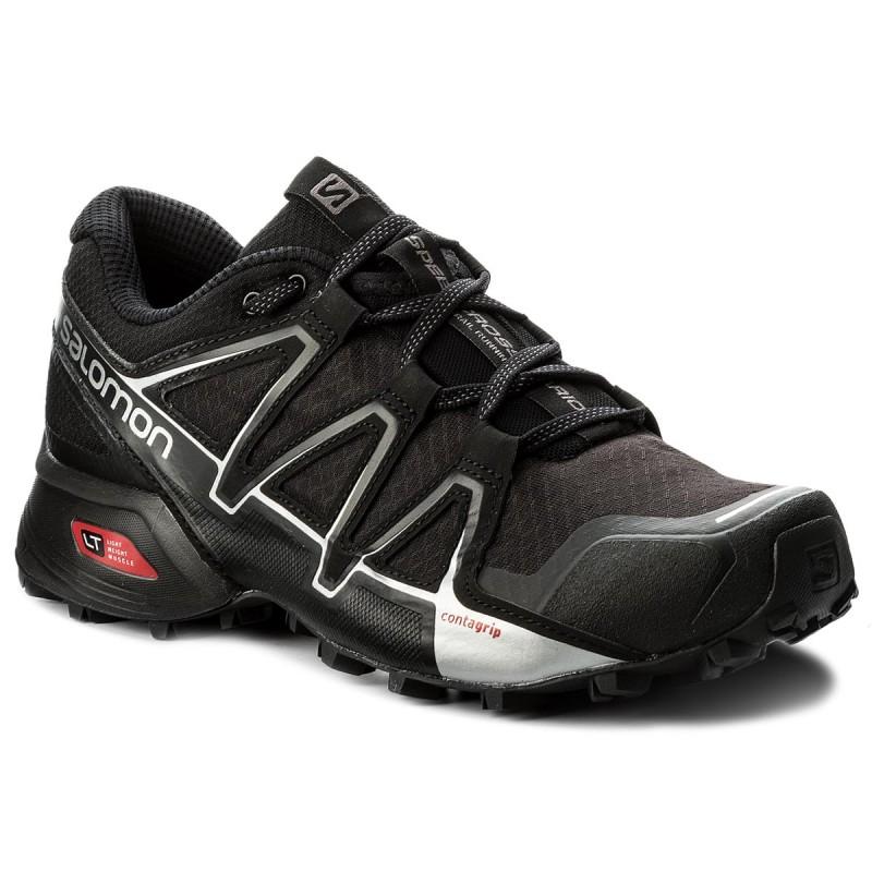 7c054efdc29a2 SALOMON escarpe Silver Metallic Scarpe 402390 Vario Black Sintetico 27 V0  Speedcross neri 2 Black pqqdA1w