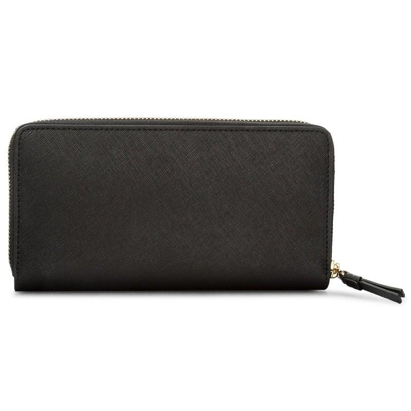 Portafoglio grande da donna TORY BURCH - Robinson Zip Continental Wallet  45254 Black/Navy 018