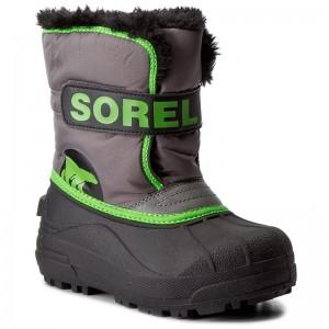 Stivali da neve SOREL - Childrens Snow Commander NC1877 Quarry Cyber Green  052 a1773b48bf2