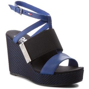Ciabatte TOMMY JEANS - Material Mix Flatform Sandal EN0EN00217 Surf The Web 419 QC3n4T7Ou