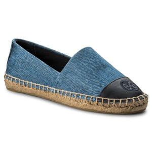 a011ca7c10e Espadrillas TORY BURCH - Color Block Flat Espadrille 46767 Denim  Chambray Perfect Navy 435