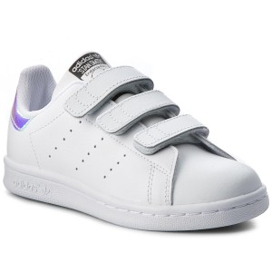 c4bfac2f14976 Scarpe adidas - Stan Smith Cf C AQ6273 Metsil Metsil Ftwwht - Con strappi - Scarpe  basse - Bambina - Bambino - www.escarpe.it