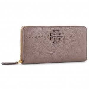 2b312e6acc Portafoglio grande da donna TORY BURCH - Mcgraw Continental Wallet 41847  Silver Maple 963