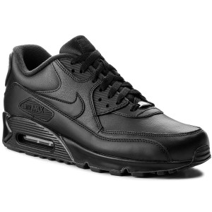 Scarpe NIKE - Air Max 90 Leather 302519 001 Black/Black - Sneakers ...