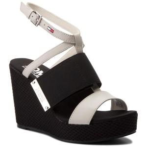 Sandali TOMMY JEANS Material Mix Wedge Sandal EN0EN00048 Off White 156 f0bf2b6a133
