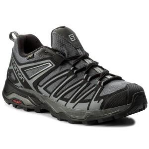 Salomon X Alp Spry GTX, Stivali da Escursionismo Uomo, Nero (Black/Magnet/Bright Marigold 000), 48 EU