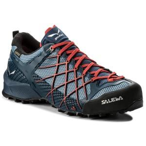 SALEWA Ms MTN Trainer, Stivali da Escursionismo Uomo, Blu (Poseidon/Sulphur Spring 8965), 42 EU
