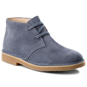 Polacchi CLARKS Desert Boot 261338697 Denim Blue Suede