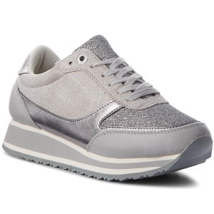 Sneakers TOMMY HILFIGER Metallic Retro Runner FW0FW03337 Diamond Grey 001 b6bd5255636