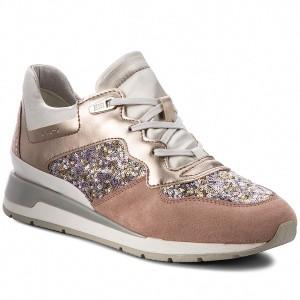 Sneakers GEOX D Shahira B D62N1B 0AJAY C8A1W Antique Rose Silver 0c0e68f5d0e