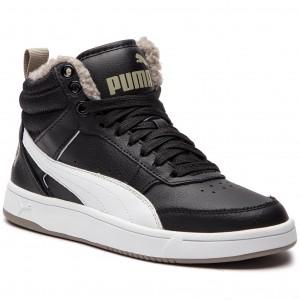038f4d43c2fa25 Sneakers PUMA - Rebound Streetv2 Fur Jr 363919 04 Black/White/Elephant Skin