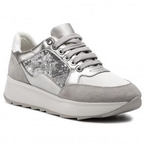 Sneakers GEOX D Gendry B D745TB 0AJAY C1N1W Lt Silver Silver d823b278f5c