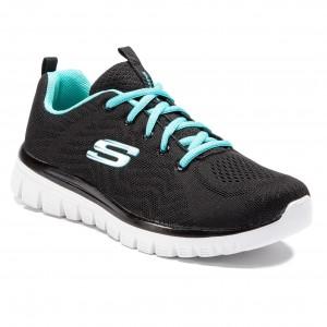 Scarpe SKECHERS Get Connected 12615 BKTQ Black Turquoise 82f046d919