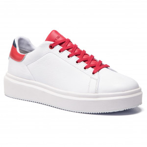 Sneakers TOMMY HILFIGER Luxury Corporate Sneaker FM0FM02514 White 100