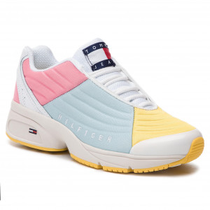 quality design 6c917 4916a Sneakers TOMMY JEANS Color Block Tommy Jeans Sneaker EN0EN00554 Geranium  Pink Canalblue Aspeng 901