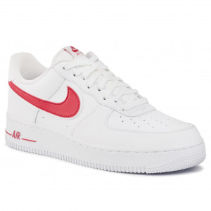 Scarpe NIKE - Air Force 1'07 3 AO2423 102 White/Gym Red - Sneakers ...