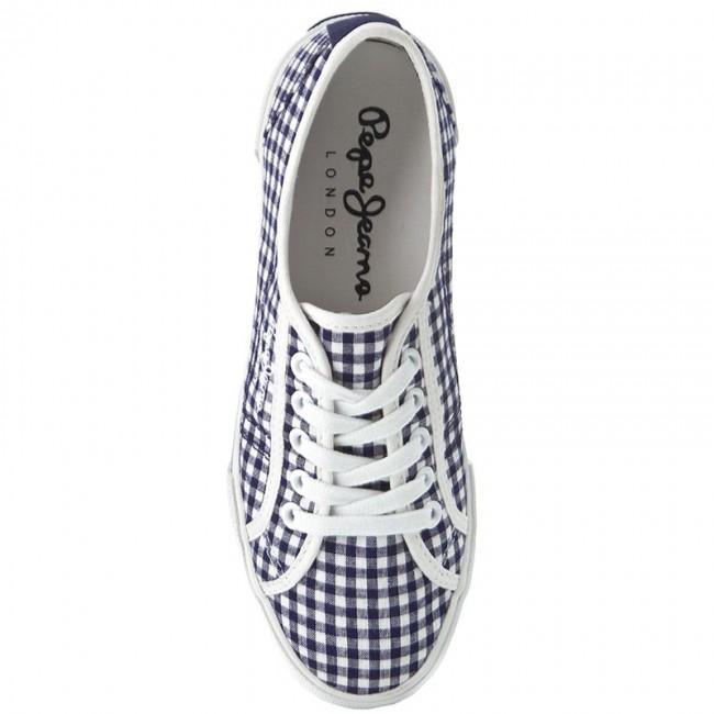 Scuro Blu Pepe Bianco Jeans Sportive Scarpe