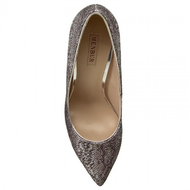 Donna Scarpe Basse Stiletti Stiletto Menbur 07061 Silver 0009