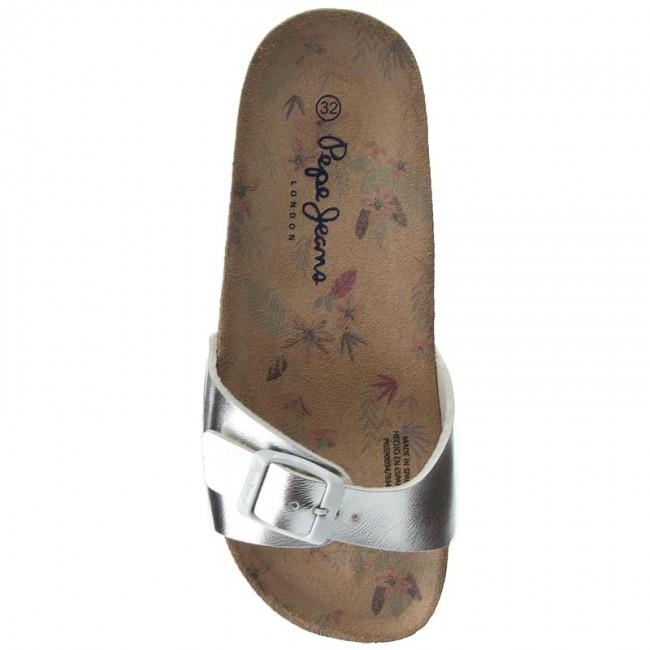 Donna Ciabatte E Sandali Da Giorno Pepe Jeans - Bio Metal Pgs90094 Silver 934