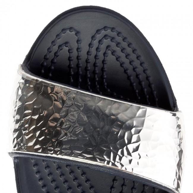 Argento Blu Scuro Sandali Crocs