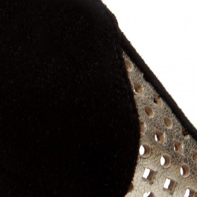 Nero Oro Scarpe Stiletto Baldowski