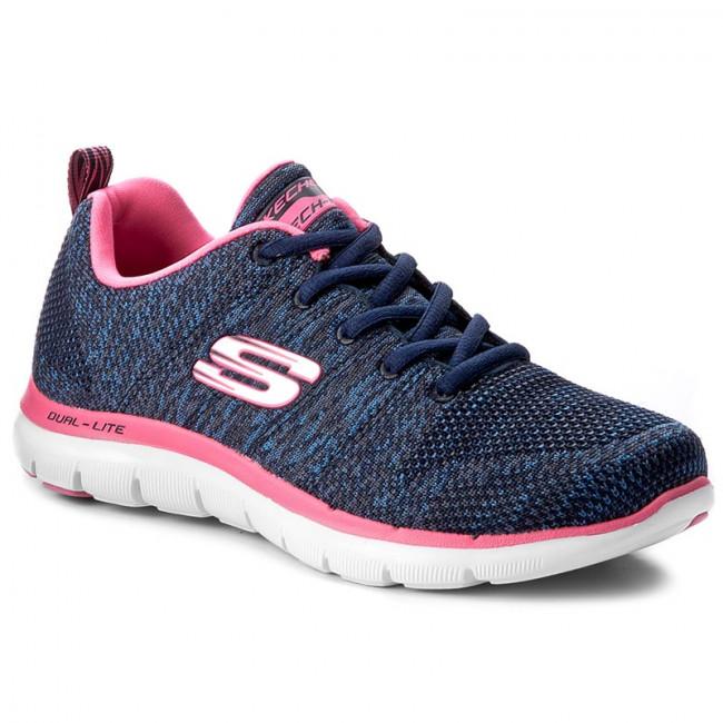 Donna Scarpe Sportive Fitness Skechers - High Energy 12756 nvhp Navy hot Pink