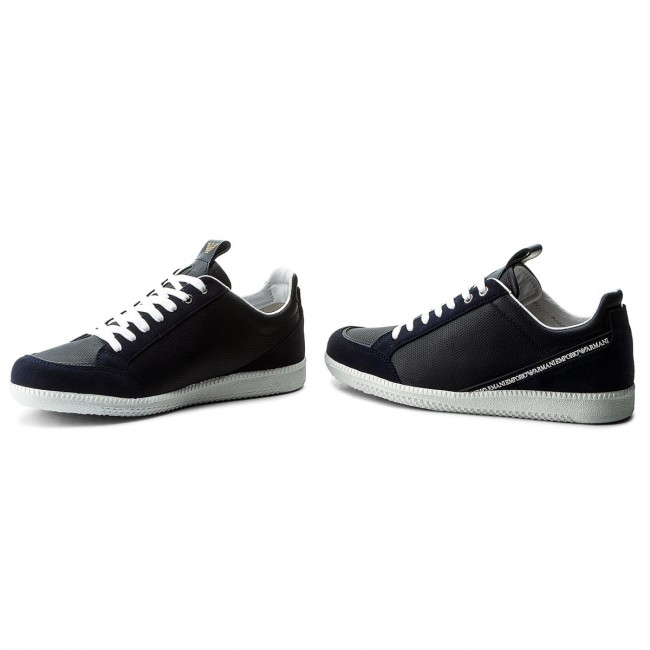Blu Sneakers Emporio Armani Scuro