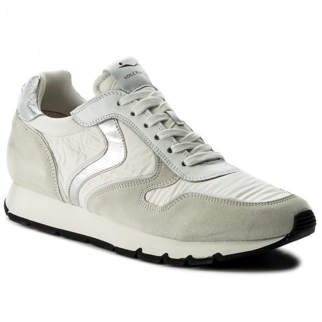 Bianco Grigio Sneakers Voile Blanche