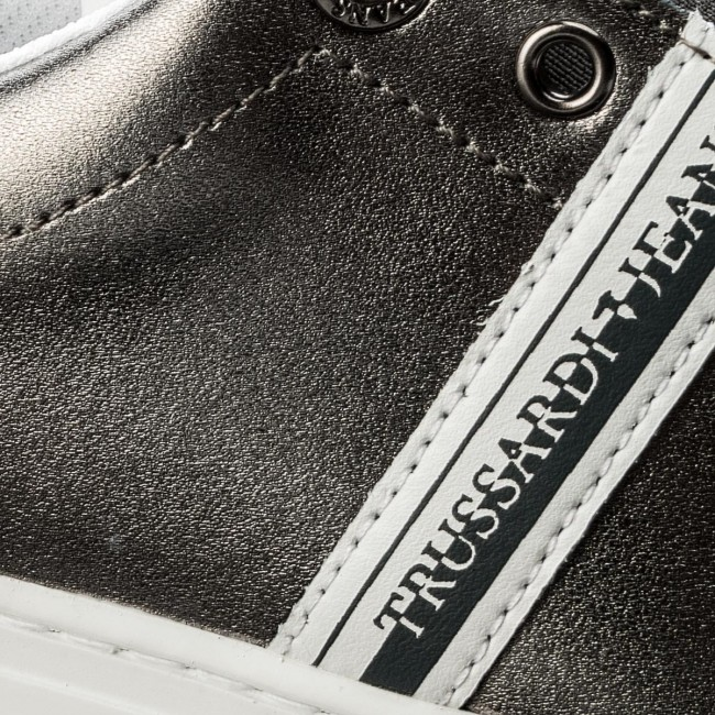 Argento Bianco Sneakers Trussardi Jeans