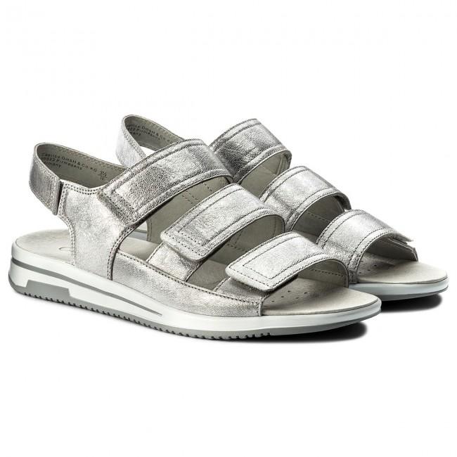 Donna Ciabatte E Sandali Da Giorno Caprice - 9-28609-20 Silver Metal 920