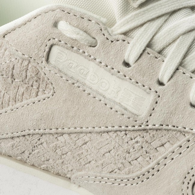 Donna Scarpe Basse Sneakers Reebok - Cl Lthr Woven Emb Bt0006 Chalk white