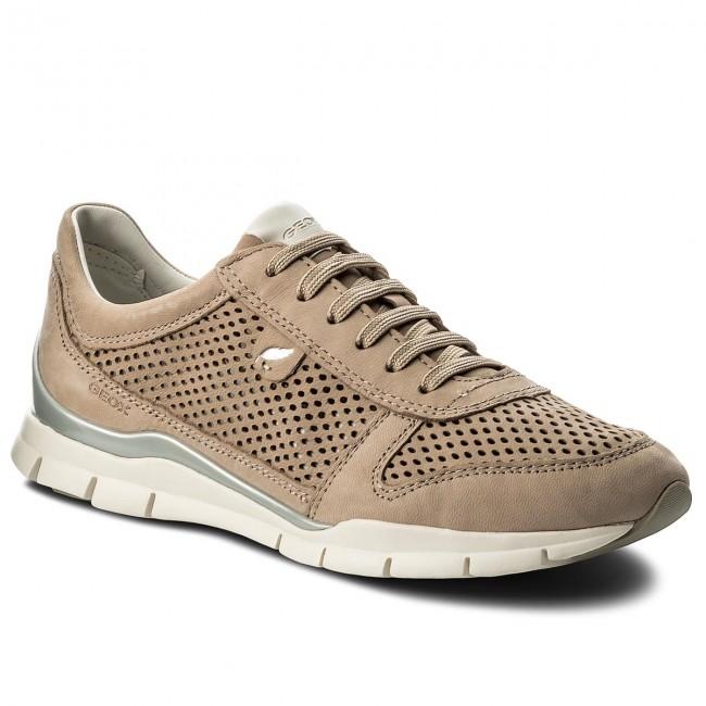 Donna Scarpe Basse Sneakers Geox - D Sukie F D62f2f 000lt C6738 Lt Taupe