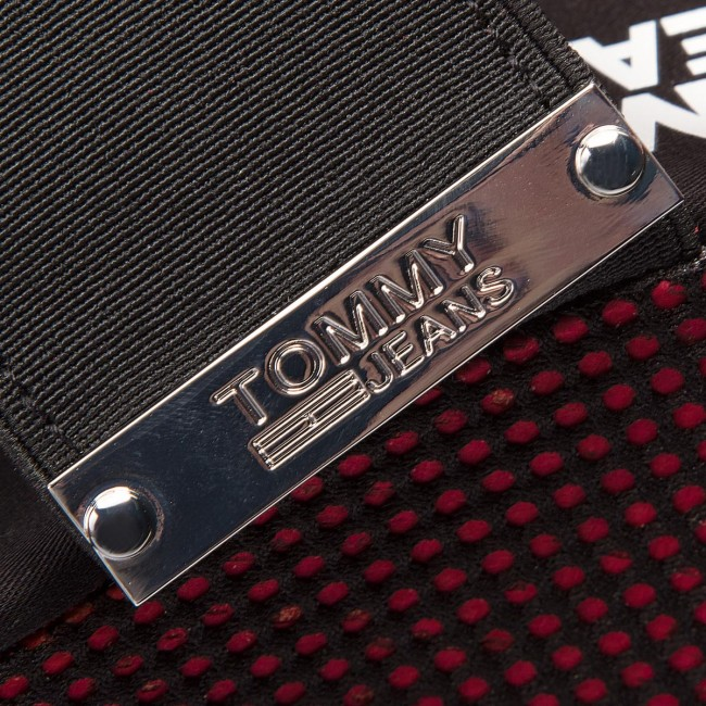 Nero Rosso Sandali Tommy Jeans