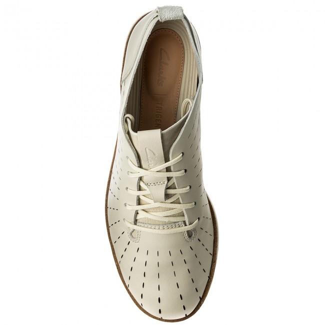 Donna Scarpe Basse Clarks - Tri Etch 261325294 White Leather