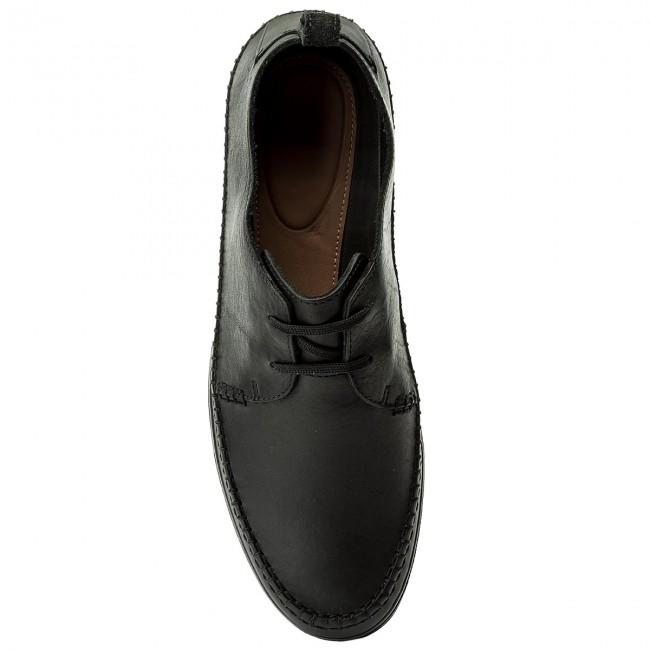 Uomo Scarpe Basse Da Giorno Clarks - Kessell Craft 261337497 Black Leather