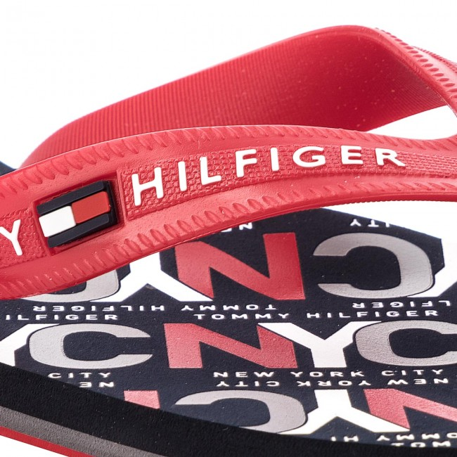 Rosso Infradito Tommy Hilfiger