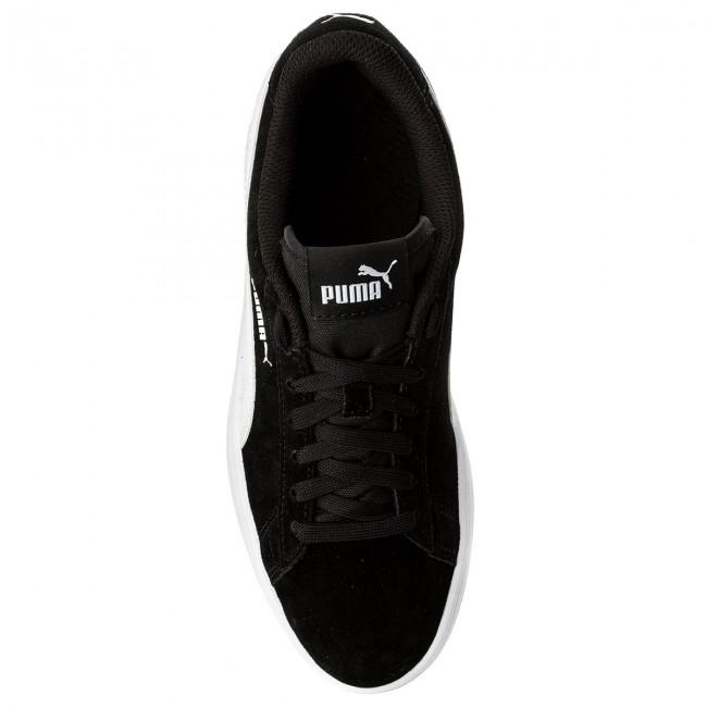 Donna Scarpe Basse Sneakers Puma Smash V2 Sd Jr 365176 01 Black puma White