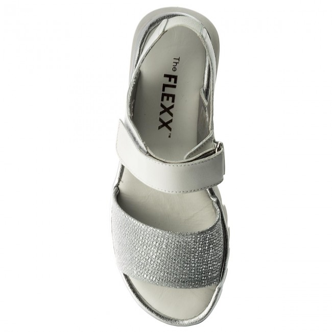 Flexx Bianco Sandali Argento The