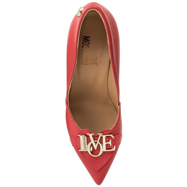 Stiletto Moschino Rosso Scarpe Love