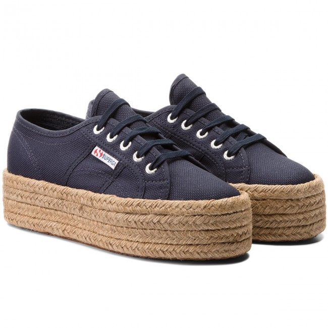 Blu Scuro Espadrillas Superga