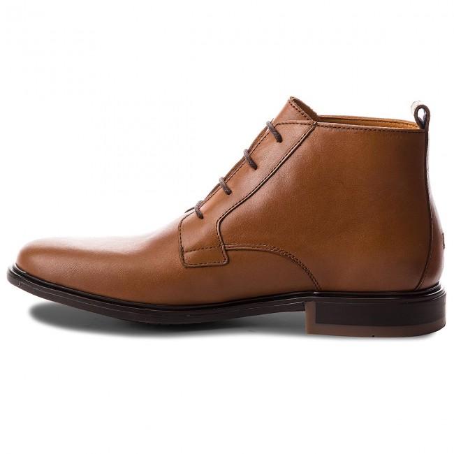 Uomo Stivali E Altri Tommy Hilfiger - Color Block Heel Leather Boot Fm0fm01602 Cognac 606