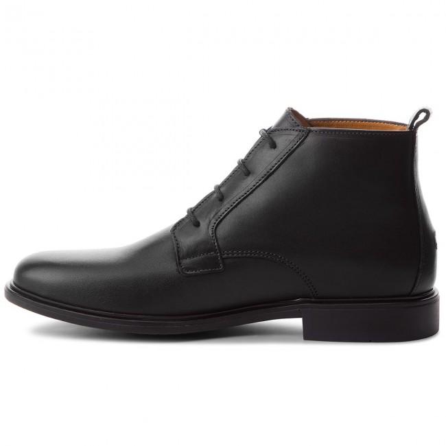 Uomo Stivali E Altri Tommy Hilfiger - Color Block Heel Leather Boot Fm0fm01602 Black 990